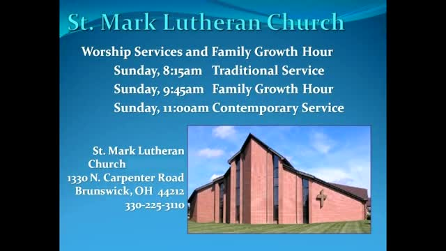 St. Mark Early Service 10-25-16